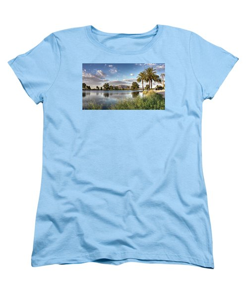 Evening Fishing Women's T-Shirt (Standard Cut) by Lynn Geoffroy