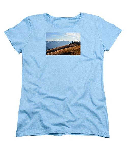 Women's T-Shirt (Standard Cut) featuring the photograph Evening Light by Ronda Broatch