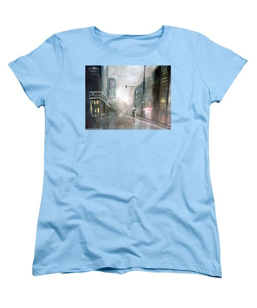 Evening Walk In The Rain Women's T-Shirt (Standard Cut) by Raymond Doward