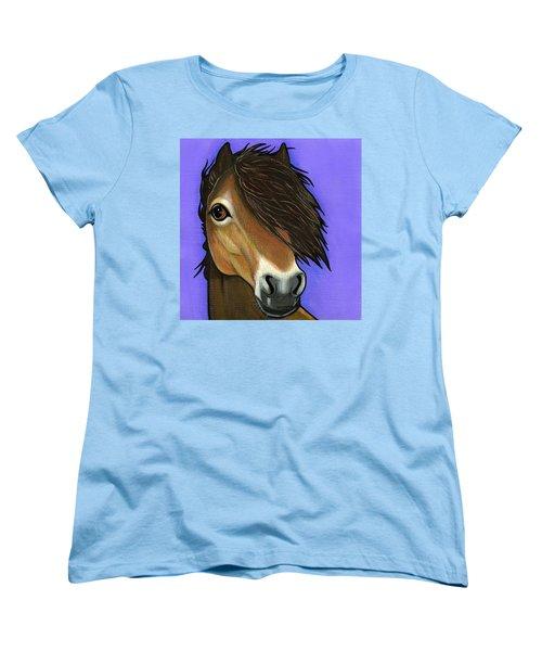 Exmoor Pony  Women's T-Shirt (Standard Cut) by Leanne Wilkes