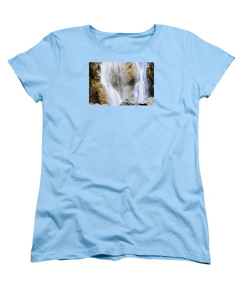 Women's T-Shirt (Standard Cut) featuring the photograph Eyes In The Rocks- Holland Falls  by Janie Johnson