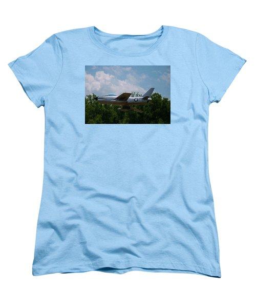 Women's T-Shirt (Standard Cut) featuring the digital art F-86l Sabre by Chris Flees