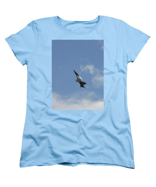 Women's T-Shirt (Standard Cut) featuring the photograph F/a-18 Fighter Fast Climb by Aaron Berg