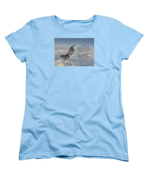F16 - High Flight Women's T-Shirt (Standard Cut) by Pat Speirs