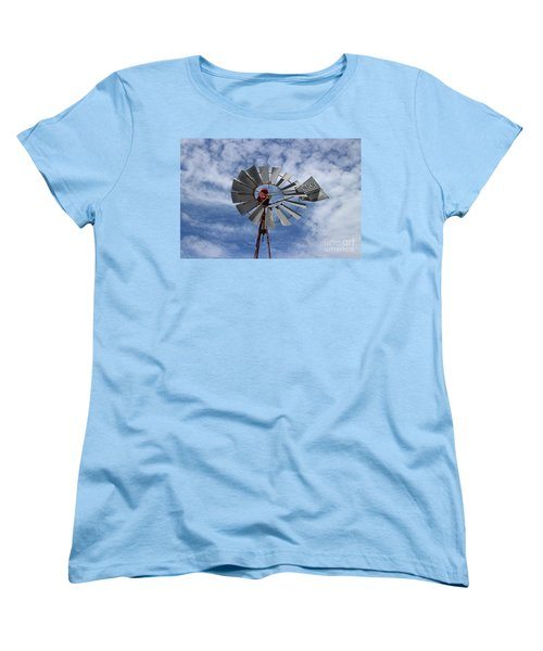 Women's T-Shirt (Standard Cut) featuring the photograph Facing Into The Breeze by Stephen Mitchell