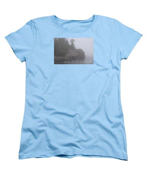 Women's T-Shirt (Standard Cut) featuring the photograph Facing The Fog by Sandra Updyke