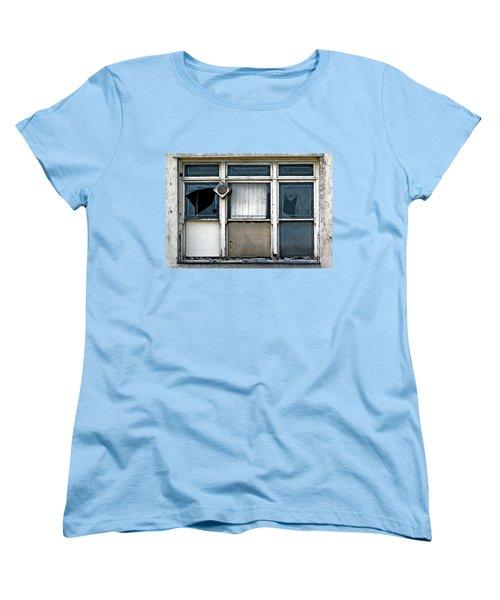 Women's T-Shirt (Standard Cut) featuring the photograph Factory Windows by Ethna Gillespie