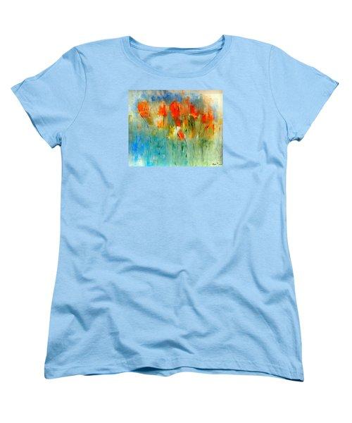 Faded Warm Autumn Wind Women's T-Shirt (Standard Cut) by Lisa Kaiser
