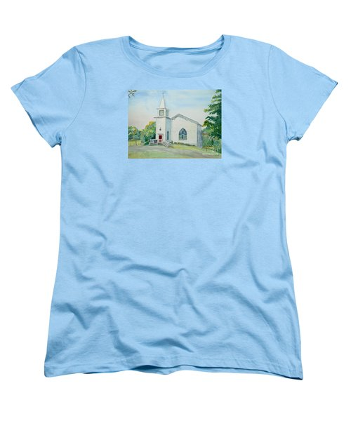 Fairdale Um Church Women's T-Shirt (Standard Cut) by Christine Lathrop