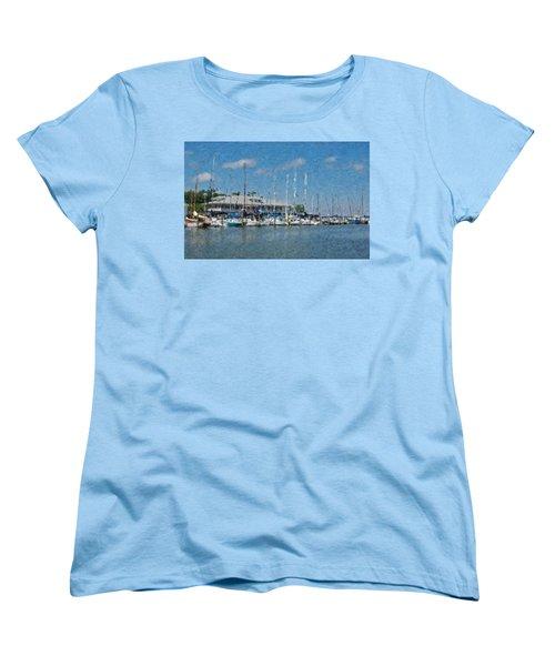 Fairhope Yacht Club Impression Women's T-Shirt (Standard Cut) by Michael Thomas