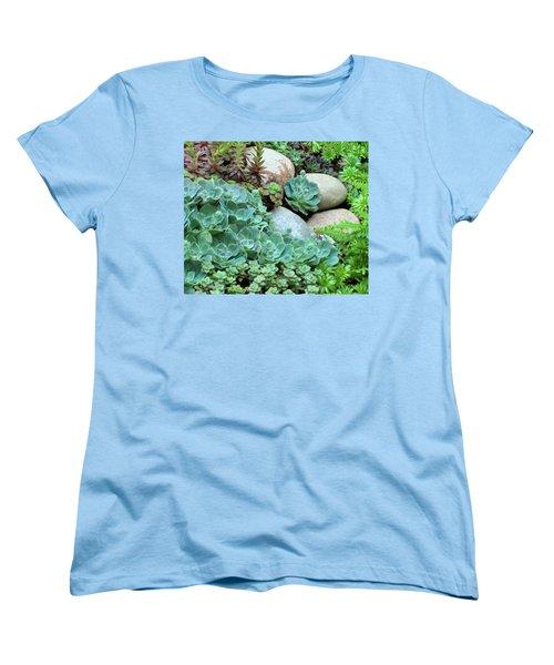 Women's T-Shirt (Standard Cut) featuring the photograph Fairy Garden by John Glass