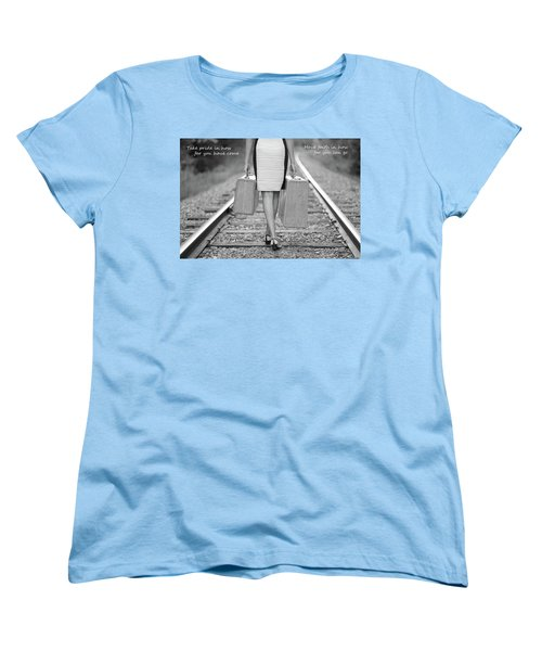 Women's T-Shirt (Standard Cut) featuring the photograph Faith In Your Journey by Barbara West