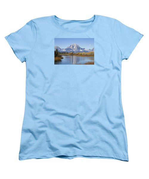 Women's T-Shirt (Standard Cut) featuring the photograph Fall At Teton -1 by Shirley Mitchell