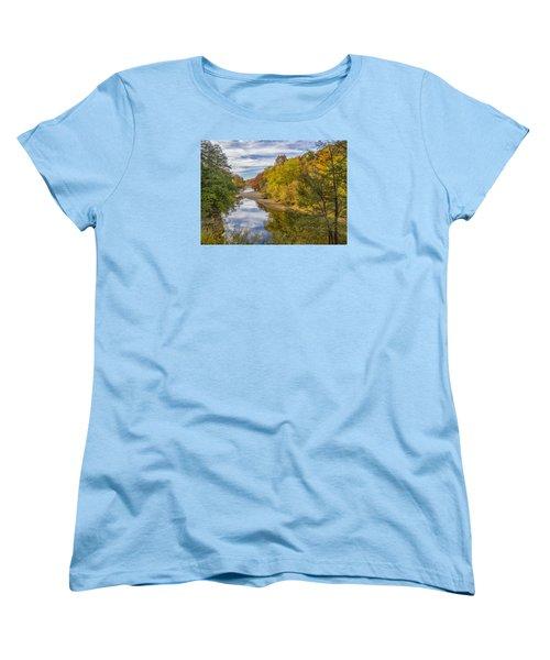 Fall At Turkey Run State Park Women's T-Shirt (Standard Cut) by Alan Toepfer