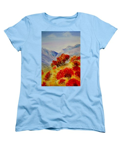 Women's T-Shirt (Standard Cut) featuring the painting Fall Color by Jamie Frier