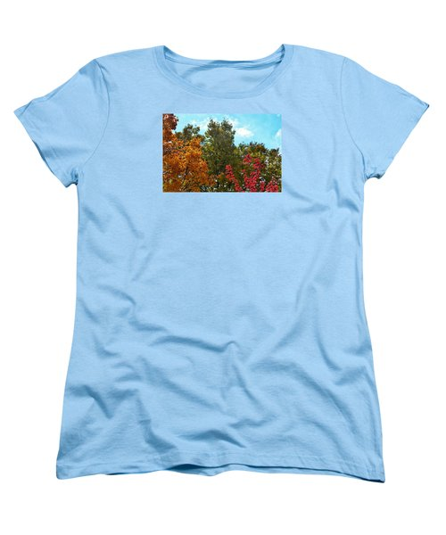 Women's T-Shirt (Standard Cut) featuring the photograph Fall Colors by Nikki McInnes