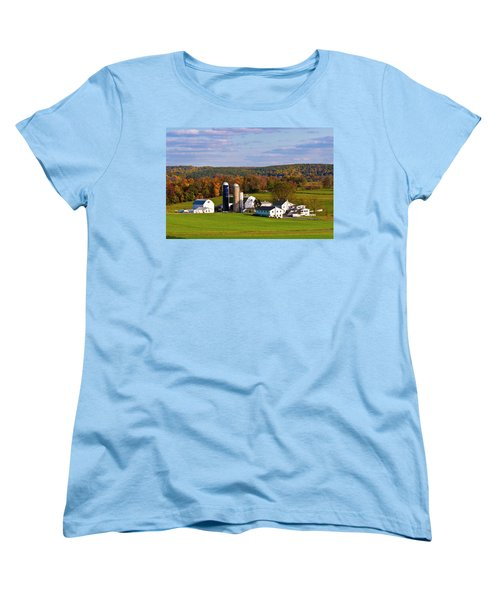 Fall In Amish Country Women's T-Shirt (Standard Cut) by Lou Ford