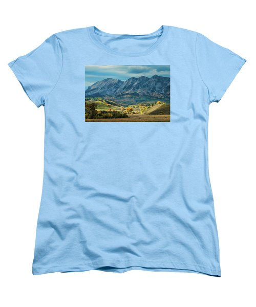 Women's T-Shirt (Standard Cut) featuring the photograph Fall In Gunnison County by Dana Sohr