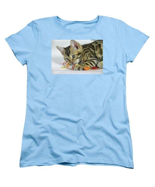 Fall Kitten Women's T-Shirt (Standard Cut) by Shoal Hollingsworth