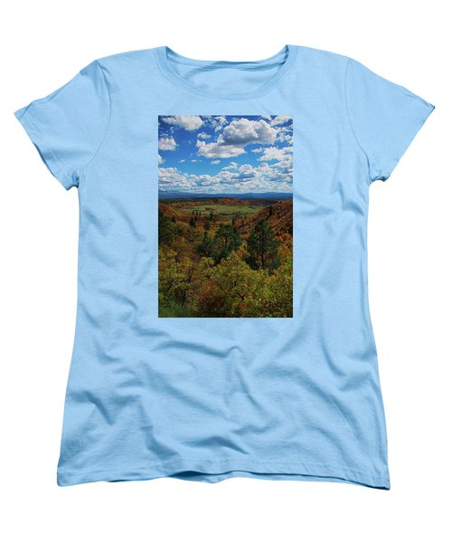 Fall On Four Mile Road Women's T-Shirt (Standard Cut) by Jason Coward