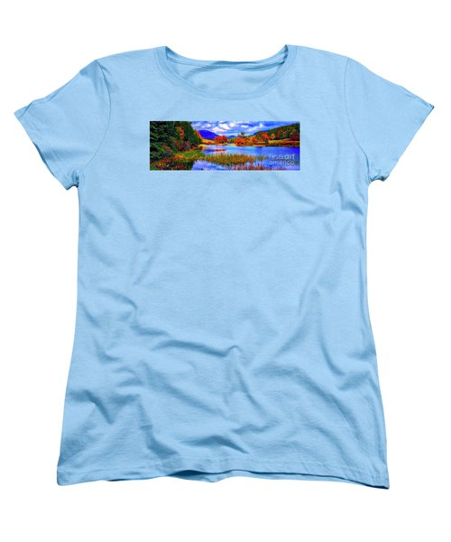 Women's T-Shirt (Standard Cut) featuring the photograph Fall On Long Pond Acadia National Park Maine  by Tom Jelen