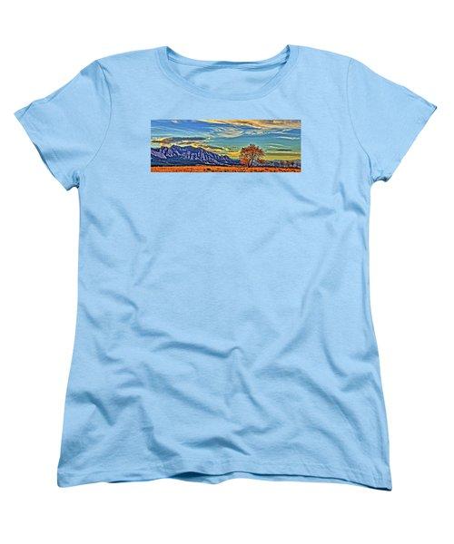 Women's T-Shirt (Standard Cut) featuring the photograph Fall Over The Flatirons by Scott Mahon