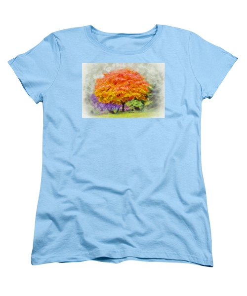 Women's T-Shirt (Standard Cut) featuring the painting Fall Tree by Greg Collins