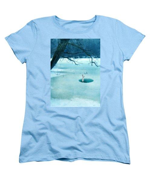 Fallen Through The Ice Women's T-Shirt (Standard Cut) by Jill Battaglia