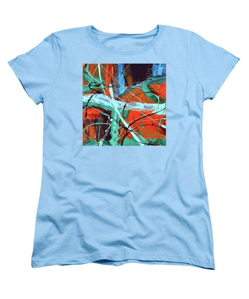 Falling Into Autumn Women's T-Shirt (Standard Cut) by Donna Blackhall