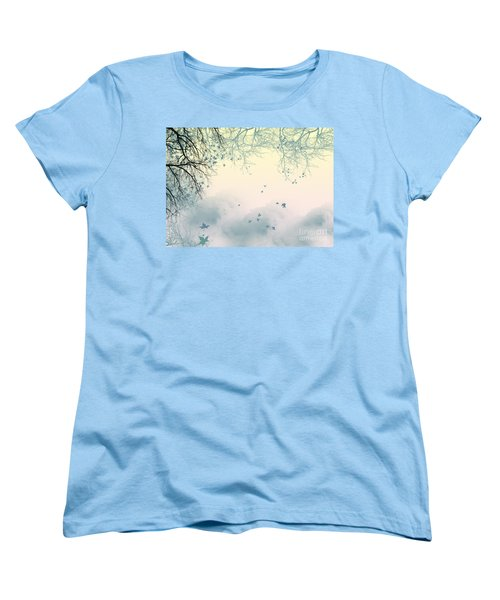 Falling Leaves Women's T-Shirt (Standard Cut) by Trilby Cole