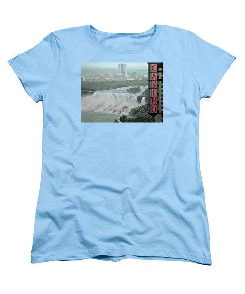 Falls View Women's T-Shirt (Standard Cut) by Kenneth M  Kirsch