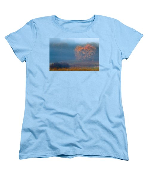 Falltime In The Meadow Women's T-Shirt (Standard Cut) by Scott Holmes