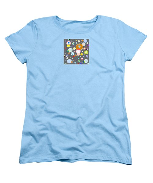 Women's T-Shirt (Standard Cut) featuring the painting Family by Beth Saffer