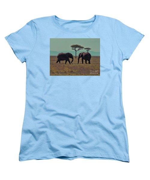 Women's T-Shirt (Standard Cut) featuring the photograph Family by Karen Lewis