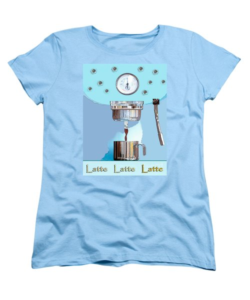 Fantasy Espresso Machine Women's T-Shirt (Standard Cut) by Marian Cates