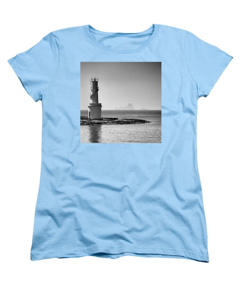Far De La Savina Lighthouse, Formentera Women's T-Shirt (Standard Cut) by John Edwards