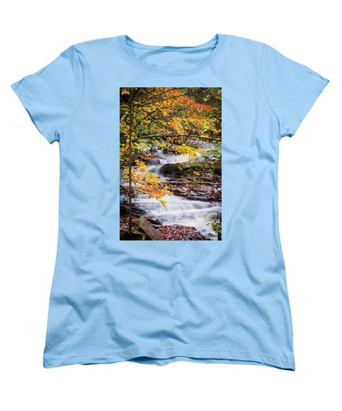 Women's T-Shirt (Standard Cut) featuring the photograph Farmed With Golden Colors by Parker Cunningham