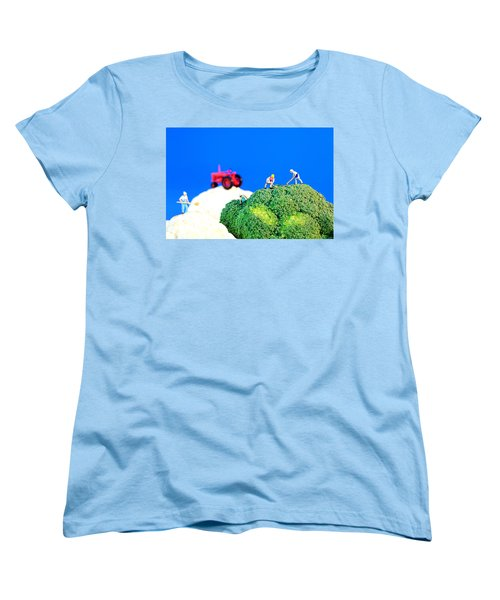 Farming On Broccoli And Cauliflower II Women's T-Shirt (Standard Cut) by Paul Ge