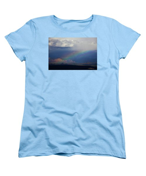 Women's T-Shirt (Standard Cut) featuring the photograph Fat Rainbow, Sedona Az by Ron Chilston