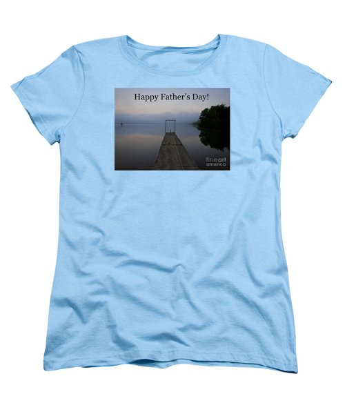 Women's T-Shirt (Standard Cut) featuring the photograph Father's Day Dock by Douglas Stucky