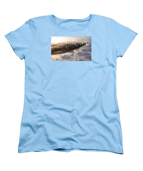 Feather In Puddle Women's T-Shirt (Standard Cut) by Adria Trail