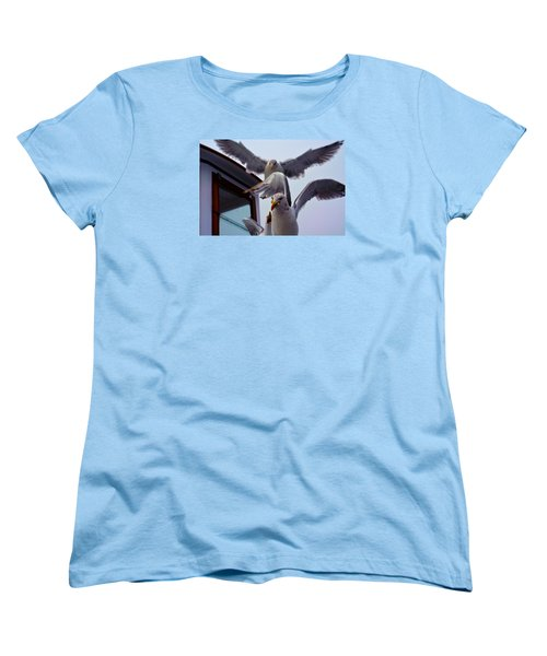 Feeding Frenzy Women's T-Shirt (Standard Cut) by Richard Ortolano