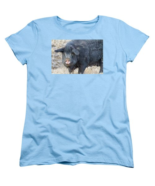 Women's T-Shirt (Standard Cut) featuring the photograph Female Hog by James BO Insogna
