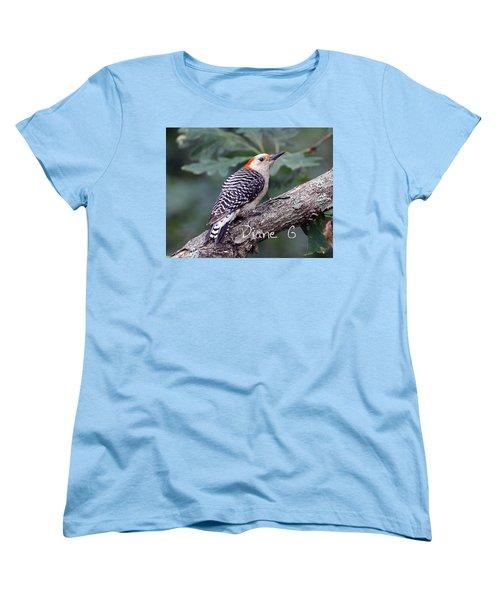Female Red-bellied Woodpecker Women's T-Shirt (Standard Cut) by Diane Giurco