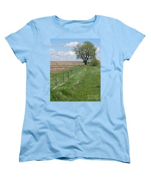 Fence Line Women's T-Shirt (Standard Cut) by Renie Rutten