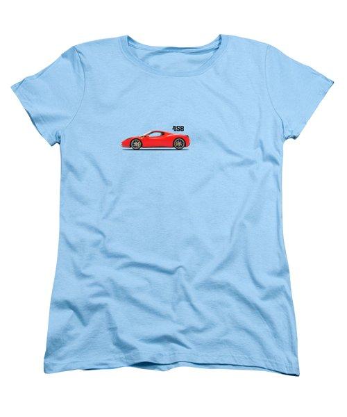 Ferrari 458 Italia Women's T-Shirt (Standard Cut) by Mark Rogan