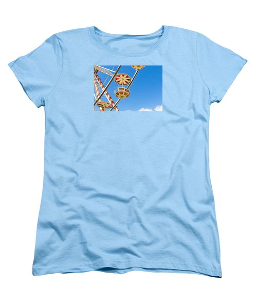 Women's T-Shirt (Standard Cut) featuring the photograph Ferris Wheel Cars In Toulouse by Semmick Photo