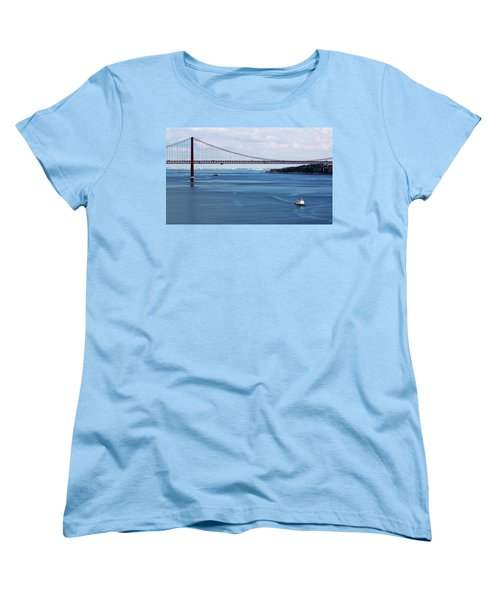 Ferry Across The Tagus Women's T-Shirt (Standard Cut) by Lorraine Devon Wilke