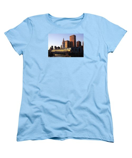 Ferry Building And San Francisco Women's T-Shirt (Standard Cut)