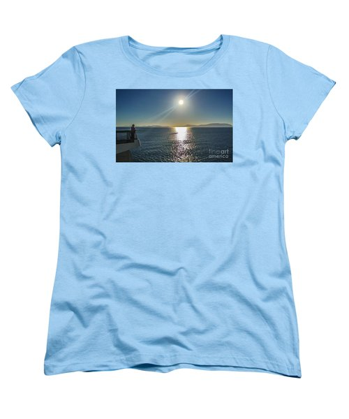 Women's T-Shirt (Standard Cut) featuring the photograph Ferry To The San Juan's by William Wyckoff